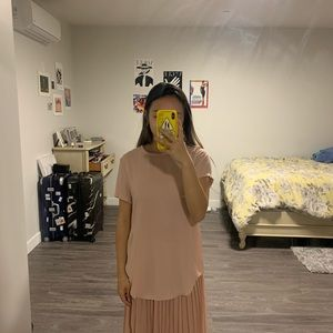 Boutique Flowy Pink Top